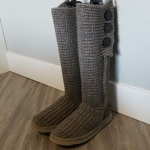 """Gray """"Cardy"""" Knit Uggs"""